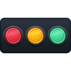 Horizontal Traffic Light Emoji on Facebook