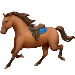 Horse Emoji on Facebook