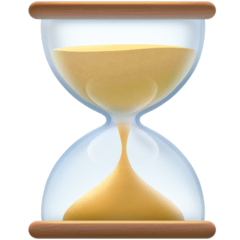 Hourglass Not Done Emoji on Facebook