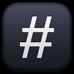Keycap: # Emoji on Facebook