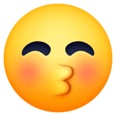 Kissing Face With Closed Eyes Emoji on Facebook