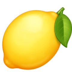 Lemon Emoji on Facebook