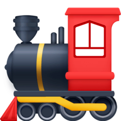 Locomotive Emoji on Facebook