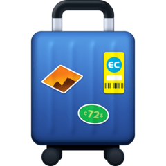 Luggage Emoji on Facebook