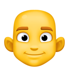 Man, Bald Emoji on Facebook