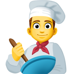Man Cook Emoji on Facebook
