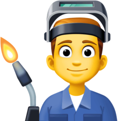 Man Factory Worker Emoji on Facebook
