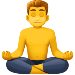 Man In Lotus Position Emoji on Facebook
