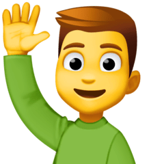 Man Raising Hand Emoji on Facebook
