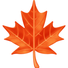 Maple Leaf Emoji on Facebook