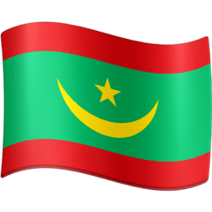 Mauritania Emoji on Facebook