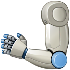 Mechanical Arm Emoji on Facebook