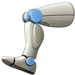 Mechanical Leg Emoji on Facebook