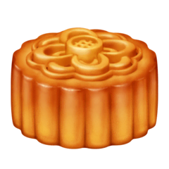 Moon Cake Emoji on Facebook