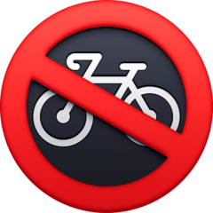 No Bicycles Emoji on Facebook