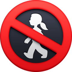 No Pedestrians Emoji on Facebook