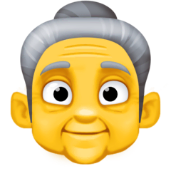 Old Woman Emoji on Facebook