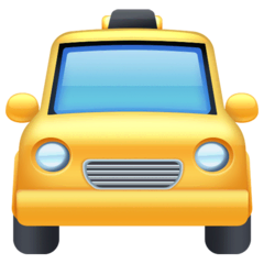 Oncoming Taxi Emoji on Facebook