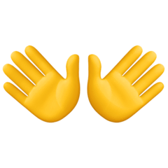 Open Hands Emoji on Facebook