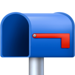 Open Mailbox With Lowered Flag Emoji on Facebook