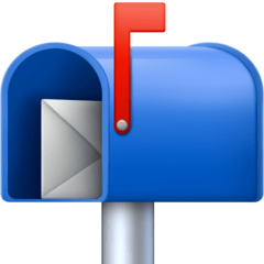 Open Mailbox With Raised Flag Emoji on Facebook