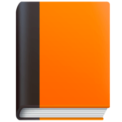 Orange Book Emoji on Facebook