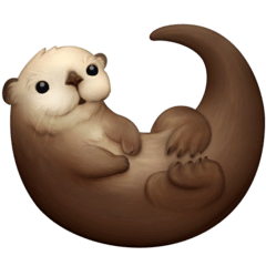 Otter Emoji on Facebook