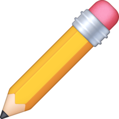 Pencil Emoji on Facebook