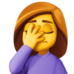 Person Facepalming Emoji on Facebook