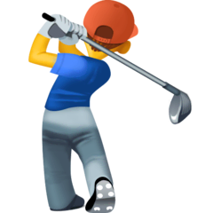 Person Golfing Emoji on Facebook