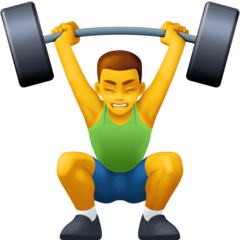 Person Lifting Weights Emoji on Facebook