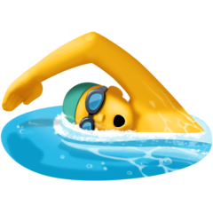 Person Swimming Emoji on Facebook