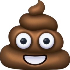 Pile of Poo Emoji on Facebook