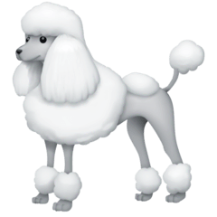Poodle Emoji on Facebook