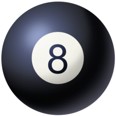 Pool 8 Ball Emoji on Facebook