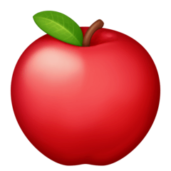 Red Apple Emoji on Facebook