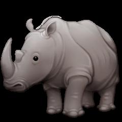 Rhinoceros Emoji on Facebook
