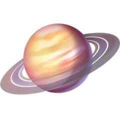 Ringed Planet Emoji on Facebook