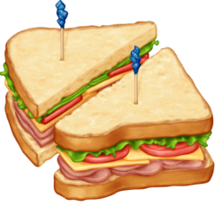 Sandwich Emoji on Facebook