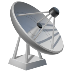 Satellite Antenna Emoji on Facebook