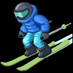Skier Emoji on Facebook