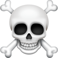 Skull and Crossbones Emoji on Facebook