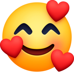 Smiling Face With Hearts Emoji on Facebook