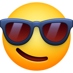 Smiling Face With Sunglasses Emoji on Facebook