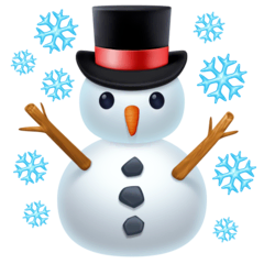 Snowman Emoji on Facebook
