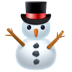 Snowman Without Snow Emoji on Facebook