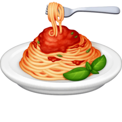 Spaghetti Emoji on Facebook