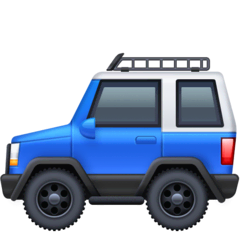 Sport Utility Vehicle Emoji on Facebook