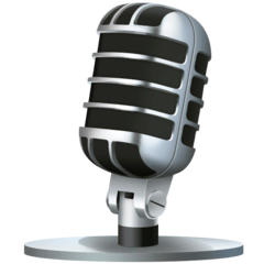 Studio Microphone Emoji on Facebook