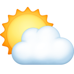 Sun Behind Cloud Emoji on Facebook